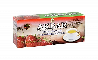 AKBAR Green Strawbery Fannings nepřebal 25x1,5g