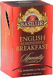 BASILUR Specialty English Breakfast papír 20x2g