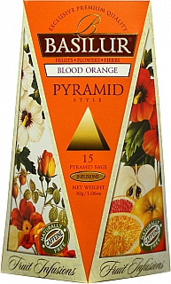 BASILUR Fruit Blood Orange Pyramid 15x2g