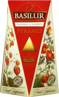 BASILUR Fruit Strawberry & Raspberry Pyramid 15x2g