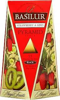 BASILUR Magic Strawberry & Kiwi Pyramid 15x2g
