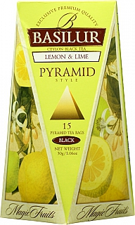 BASILUR Magic Lemon & Lime Pyramid 15x2g