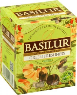 BASILUR Bouquet Green Freshness přebal 10x1,5g