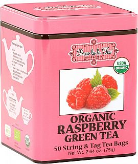 BREW LA LA TEA BIO Green Organic Raspberry nepřebal 50x1,5g
