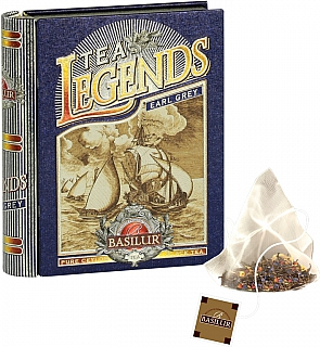 BASILUR Legends Earl Grey plech pyramid 5x2g