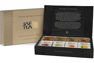 JAFTEA Box Pure Black & Flavoured 8x10x2g/1,5g