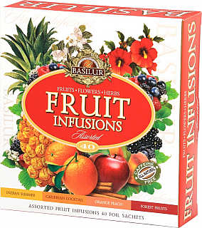 BASILUR/ Fruit Infusions Assorted přebal 40 gastro sáčků