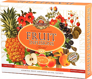 BASILUR Fruit Infusions Assorted přebal 60 gastro sáčků