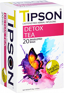 TIPSON Wellness Teas Detox Tea přebal 20x1,3g
