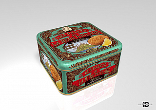 La Mére Poulard 1/21 Coffret Lemon French shortbread plech 250g