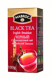 MABROC Black English Breakfast papír 100g