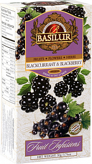 BASILUR  Fruit Blackcurrant & Blackberry nepřebal 25x2g