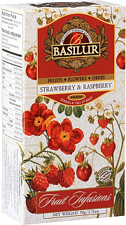 BASILUR  Fruit Strawberry & Raspberry nepřebal 25x2g