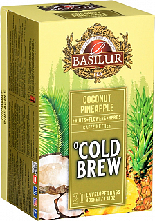 BASILUR Cold Brew Coconut Pineapple přebal 20x2g